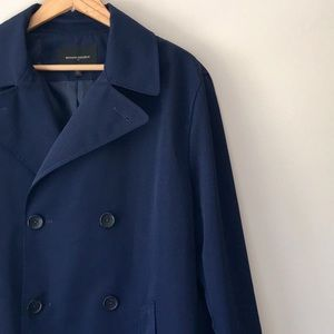 Banana Republic Navy Doubled Breasted Trench Sz L